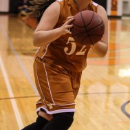 during the 2015 Keady Basketball Classic First Round game between the Kiowa County Lady Mavericks and the Larned Lady Indians with Kiowa County winning 46 to 37
