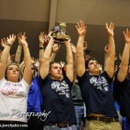 during the KSHSAA Class 3A Boys State Tournament wth the Riverton Rams and the Sabetha Bluejays