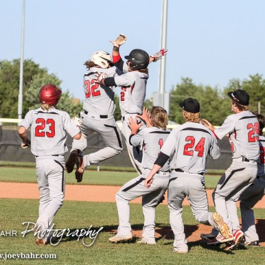 during the Dodge City Demons versus Great Bend Panthers Baseball double header