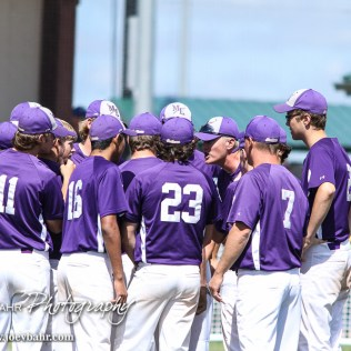 The Medicine Lodge Indians huddle up prior to the start of the game. The St. Mary's Colgan Panthers win the KSHSAA Class 2-1A State Baseball Championship over the Medicine Lodge Indians by a score of 13 to 3 at the Great Bend Sports Complex in Great Bend, Kansas on May 28, 2016. (Photo: Joey Bahr, www.joeybahr.com)