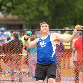 Athletes compete in the KSHSAA Class 2A Regional Track and Field Meet at City Park in Ellinwood, Missouri on May 20, 2016. (Photo: Joey Bahr, www.joeybahr.com)
