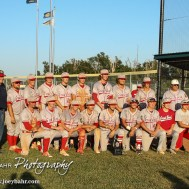 The Great Bend Chiefs Line up for a team photograph with the American Legion Representative and the Zone Tournament Trophy. The Great Bend Chiefs won the AAA Lower Zone 1 & 2 Tournament by defeating the Garden City Elite 10 to 4 at Great Bend Sports Complex in Great Bend, Kansas on July 18, 2016. (Photo: Joey Bahr, www.joeybahr.com)