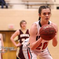 Great Bend Lady Panther #20 Brooklyn Burkhart shoots a free throw attempt. The Great Bend Lady Panthers defeated the Hays Lady Indians by a score of 54 to 41 at Great Bend High School in Great Bend, Kansas on January 10, 2017. (Photo: Joey Bahr, www.joeybahr.com)