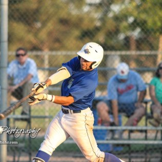 Great Bend Batcat Mateo Zunica (#8) swings at a pitch in the bottom of the fifth inning. The Great Bend Batcats won the second game of the series with the Liberal Bee Jays 8 to 3 at Al Burns Memorial Field in Great Bend, Kansas on July 8, 2017. (Photo: Joey Bahr, www.joeybahr.com)