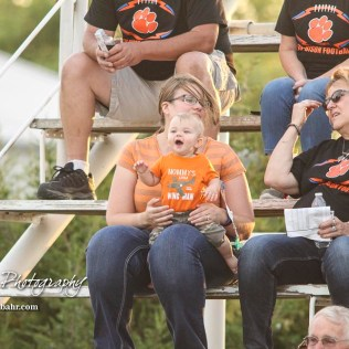 Aloysius Bahr enjoys his first football game. The Central Plains Oilers defeated the Otis-Bison Cougars by a score of 36 to 12 at Central Plains High School in Claflin, Kansas on September 15, 2017. (Photo: Joey Bahr, www.joeybahr.com)