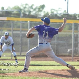 Spearville Royal Lancer #11 Kolby Stein throws a pitch in the top of the first inning. The Spearville Royal Lancers defeated the Bluestem Lions 5 to 1 in the KSHSAA Class 2-1A State Baseball Quarterfinal at the Great Bend Sports Complex in Great Bend, Kansas on May 24, 2018. (Photo: Joey Bahr, www.joeybahr.com)