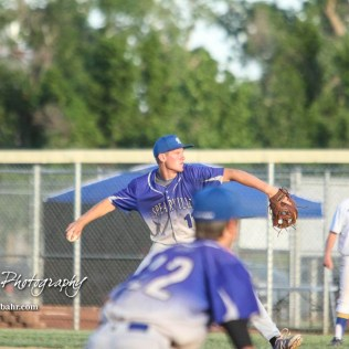 Spearville Royal Lancer #11 Kolby Stein throws a pitch in the top of the fourth inning. The Spearville Royal Lancers defeated the Bluestem Lions 5 to 1 in the KSHSAA Class 2-1A State Baseball Quarterfinal at the Great Bend Sports Complex in Great Bend, Kansas on May 24, 2018. (Photo: Joey Bahr, www.joeybahr.com)