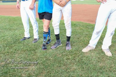The Dodge City A's lead 9 to 0 over the Great Bend Bat Cats when the game was called in the bottom of the fourth inning due to weather at Al Burns Memorial Field in Great Bend, Kansas on July 25, 2018. (Photo: Joey Bahr, www.joeybahr.com)