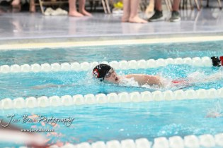 Aubrey Snapp of Great Bend takes a breathe during the 200 yard Freestyle. The Great Bend Girls Swimming Invitational was held at the Kirkman Activity Center on the campus of Barton Community College in Great Bend on 4 20190426, 2019. (Photo: Joey Bahr, www.joeybahr.com)