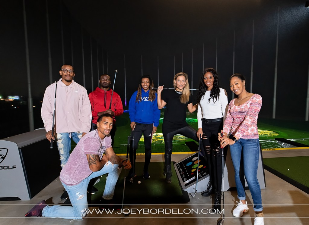 Lolo Jones and friends at Top Golf Baton Rouge location