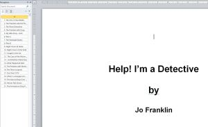 Jo Franklin navigation pane for Help I'm a Detective