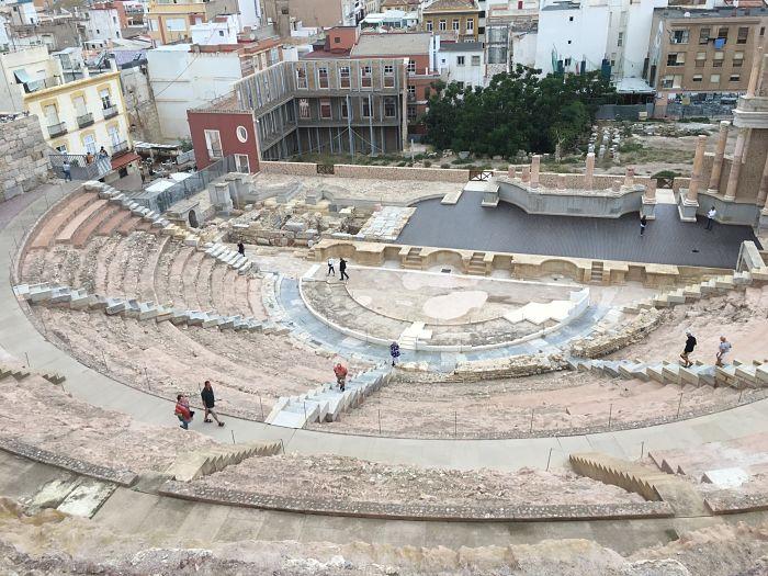 Les ruines à Cartagena.
