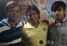 Sanjay Bhushan with Bhojpuri singer Mohan Rathor