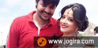 bhojpuri actor manoj with monalisha