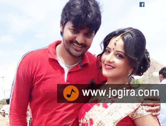 bhojpuri actor manoj with monalisha
