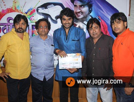 Pardeep pandey chintu's upcoming Bhojpuri Movie muhurt held in Mumbai on Raksha Bandan