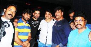 bhojpuri stars in bhojpuri film producer mdhuvendra rai birthday party
