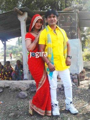 poonam dubey and satendra singh stills from bhojpuri film ghaat