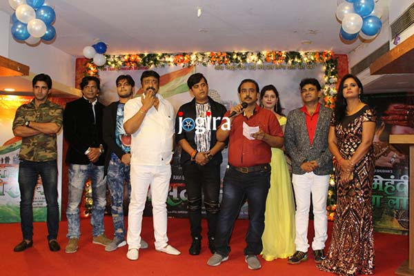 भोजपुरी फिल्म कसम तिरंगा के और मेहंदी रंग लाएगी का म्यूजिक लांच