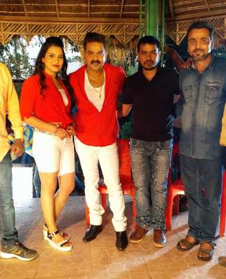 Pawan Singh made fun during shooting of the song Bhojpuri film Wanted