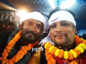 विवेक सिंह जी के साथे चन्दन जी