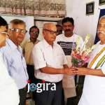 डॉ रामजनम मिश्र जी के जमशेदपुर आगमन पर भइल अभिनन्दन