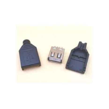 Soket USB Female + Cover 01