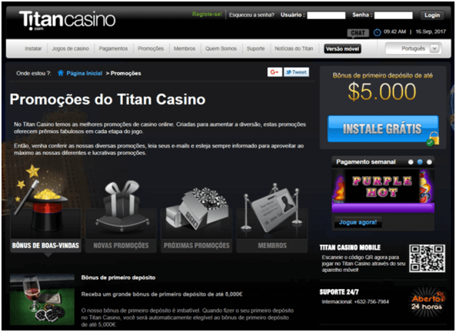 promocoes- Titan casino