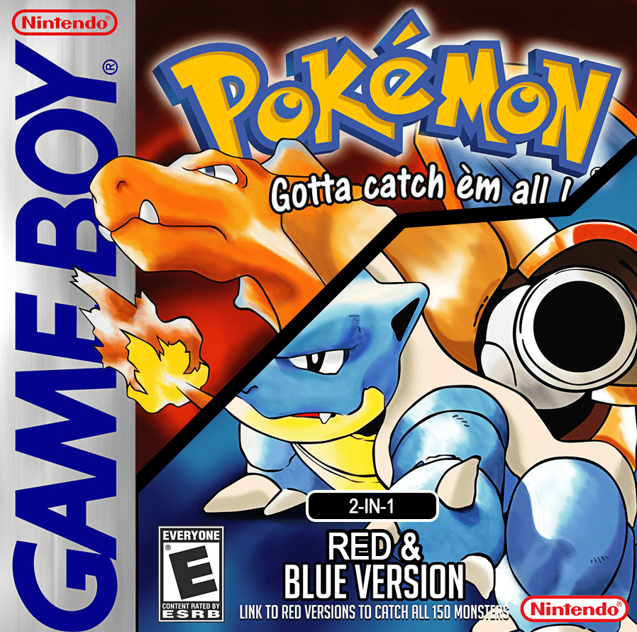 Pokemon Red and Blue 2-in-1