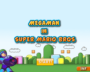 MEGAMAN IN SUPER MARIO BROS 2020