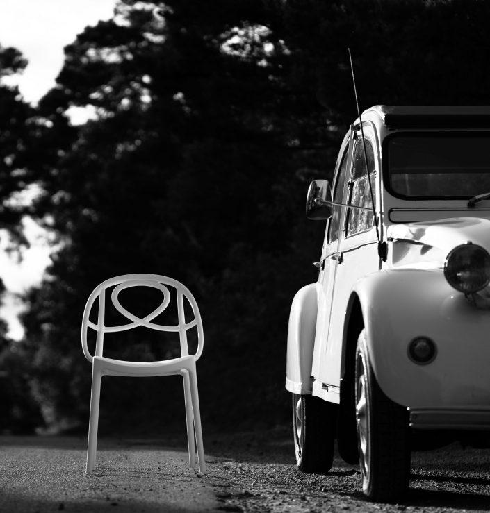 Etoile stol outdoor fotografering