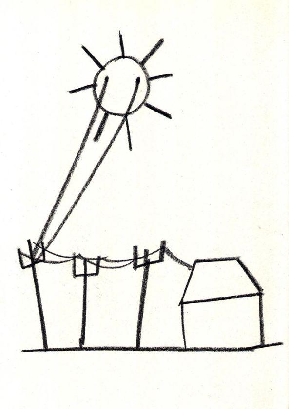 tekening: Het bewenen van ons - Didier Van De Steene