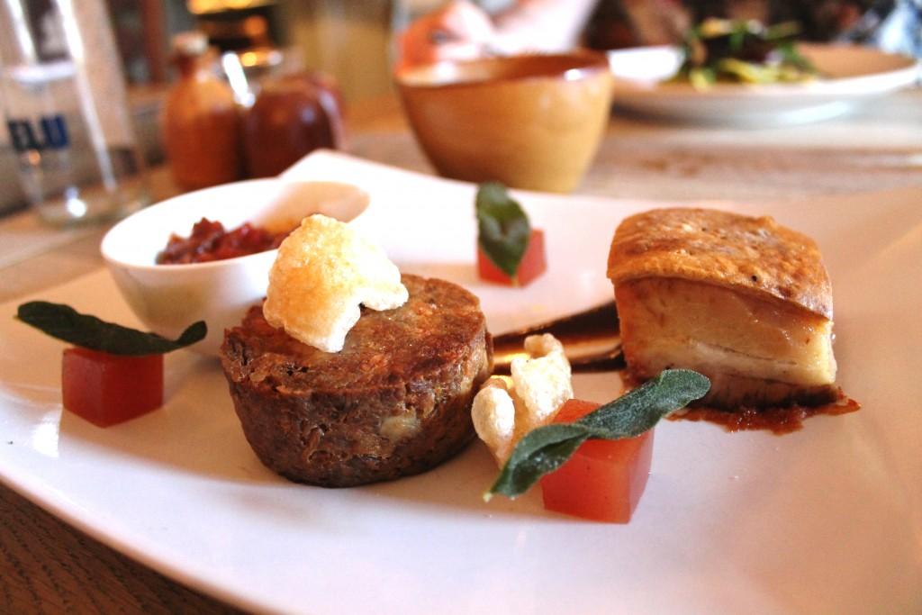 Kings head hursley menu - food - pork three ways