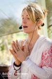 Johanna teaching Lullaby Yoga at Shakti Fest
