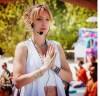 Johanna teaching Lullaby Yoga