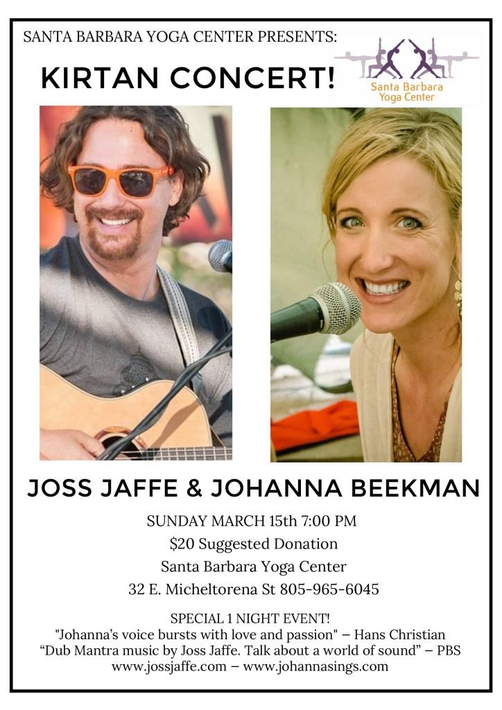 Joss and Johanna Santa Barbara 2020 poster