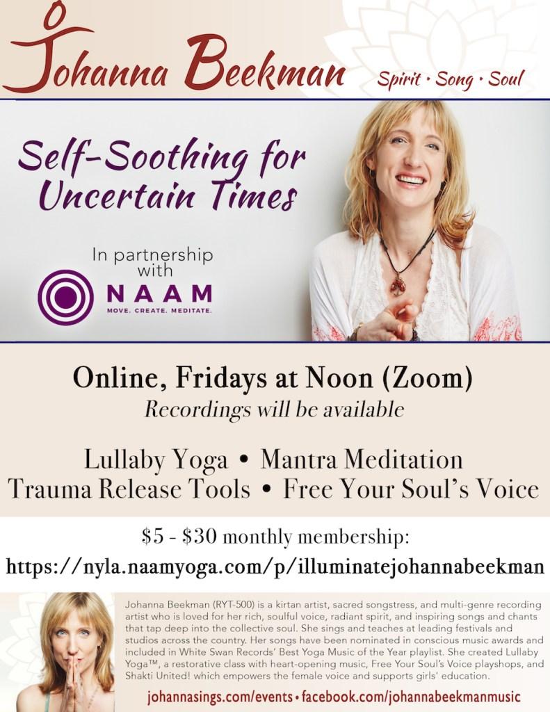 2020 Johanna Poster Naam Yoga course