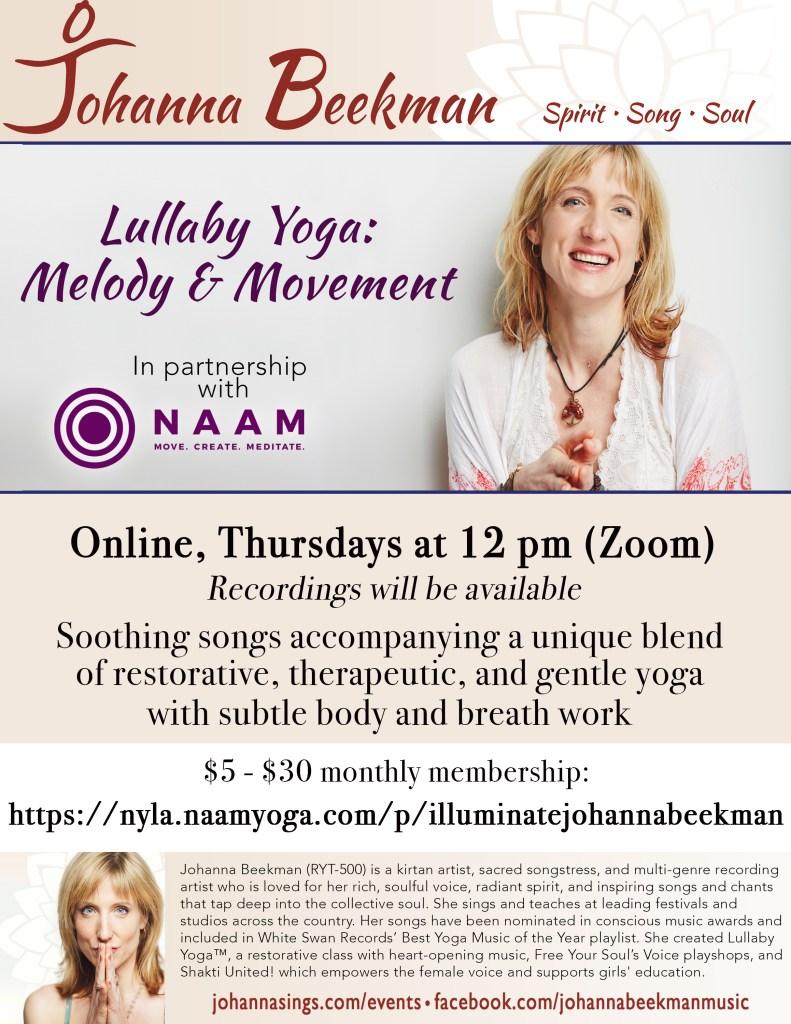 2020 Johanna Poster Naam Lullaby Yoga