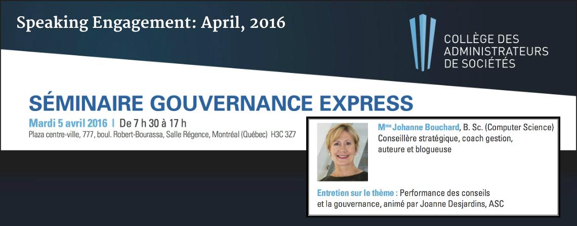 Gouvernance 2016