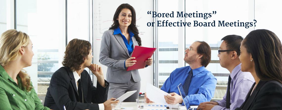board meetings bored