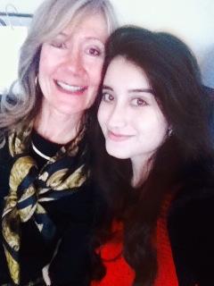 Johanne with Farzia, York University STEM student, Dec 18, 2014