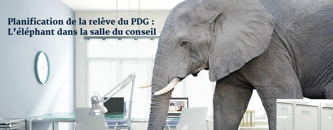 Planification de la relève du PDG : L'éléphant dans la salle du conseil