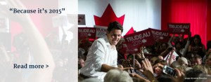 justin trudeau because it's 2015