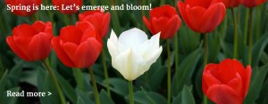 Spring is here: Let's emerge and bloom!