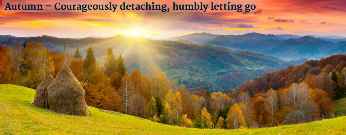 Autumn Courageously detaching humbly letting go
