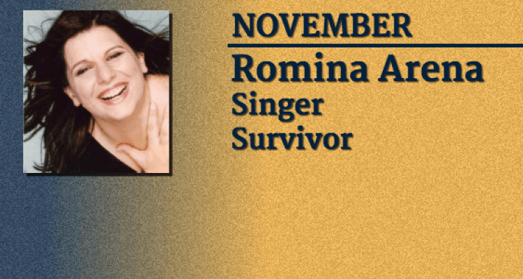 Singer and Survivor Romina Arena