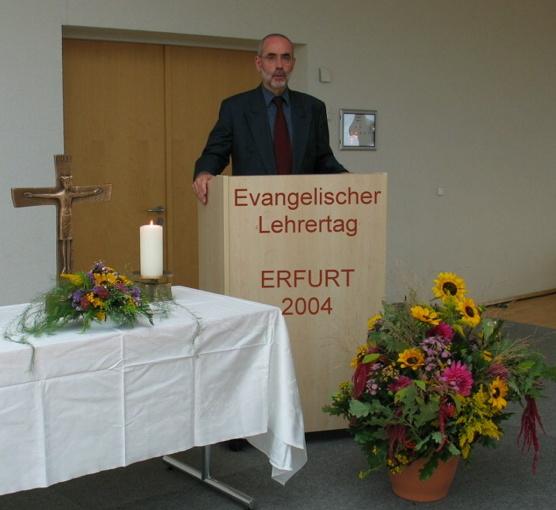 Begrüßung zum Evangelischen Lehrertag in Erfurt.