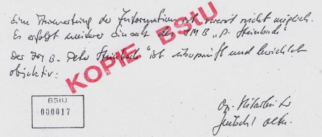 """Ein """"treuer IM"""" aus der Gemeinde Crock, """"Peter Steinbach""""."""