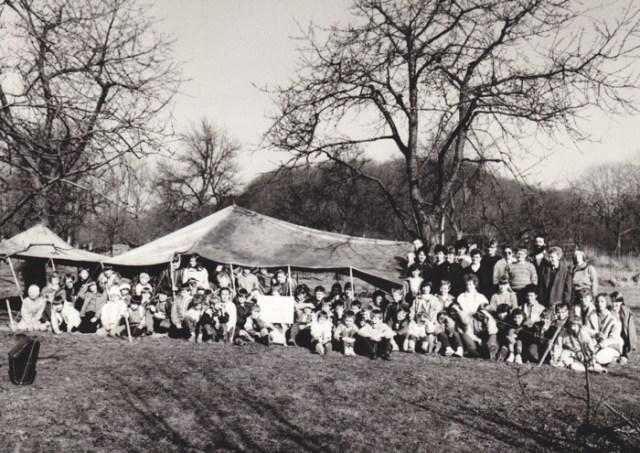 Wie bei den Nomaden in Israel gab es Essen und Trinken im Zelt.