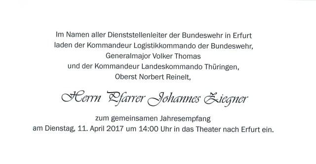 Einladung Bundeswehr